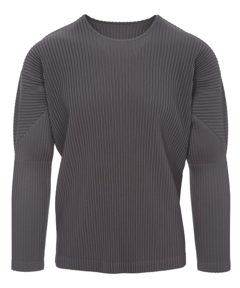 Long Sleeve Pleated T-Shirt