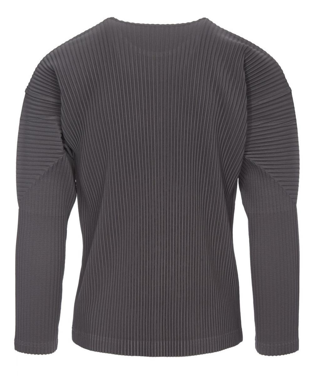 Long Sleeve Pleated T-Shirt