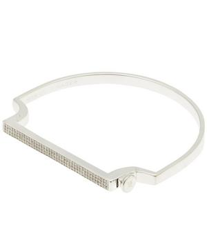 Silver Signature Thin Diamond Bangle