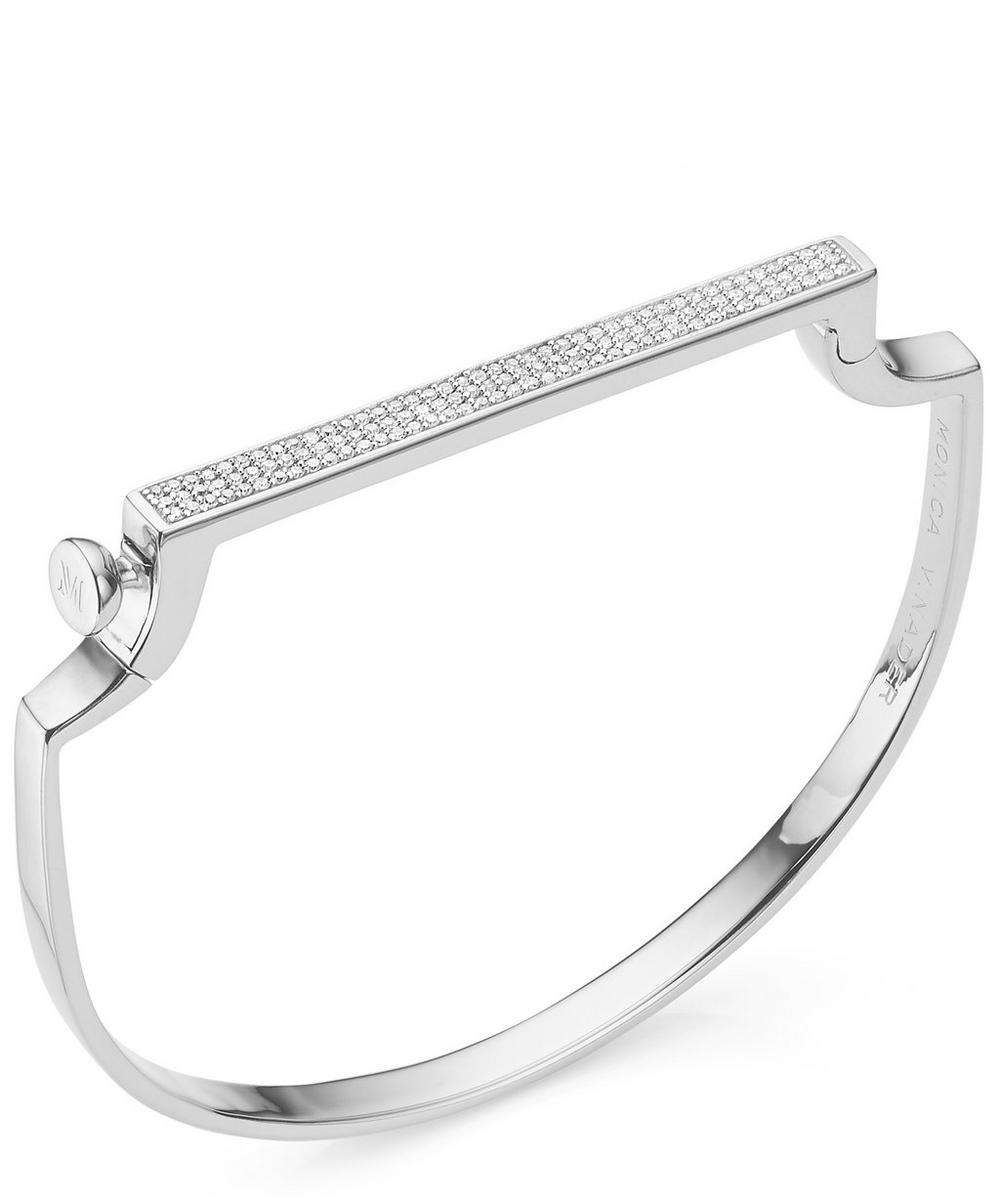 Monica Vinader Signature Silver Thin Bangle