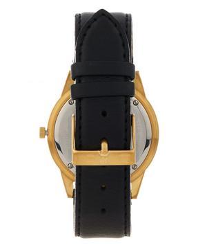 Saxon 39mm Black-Gold leather Watch