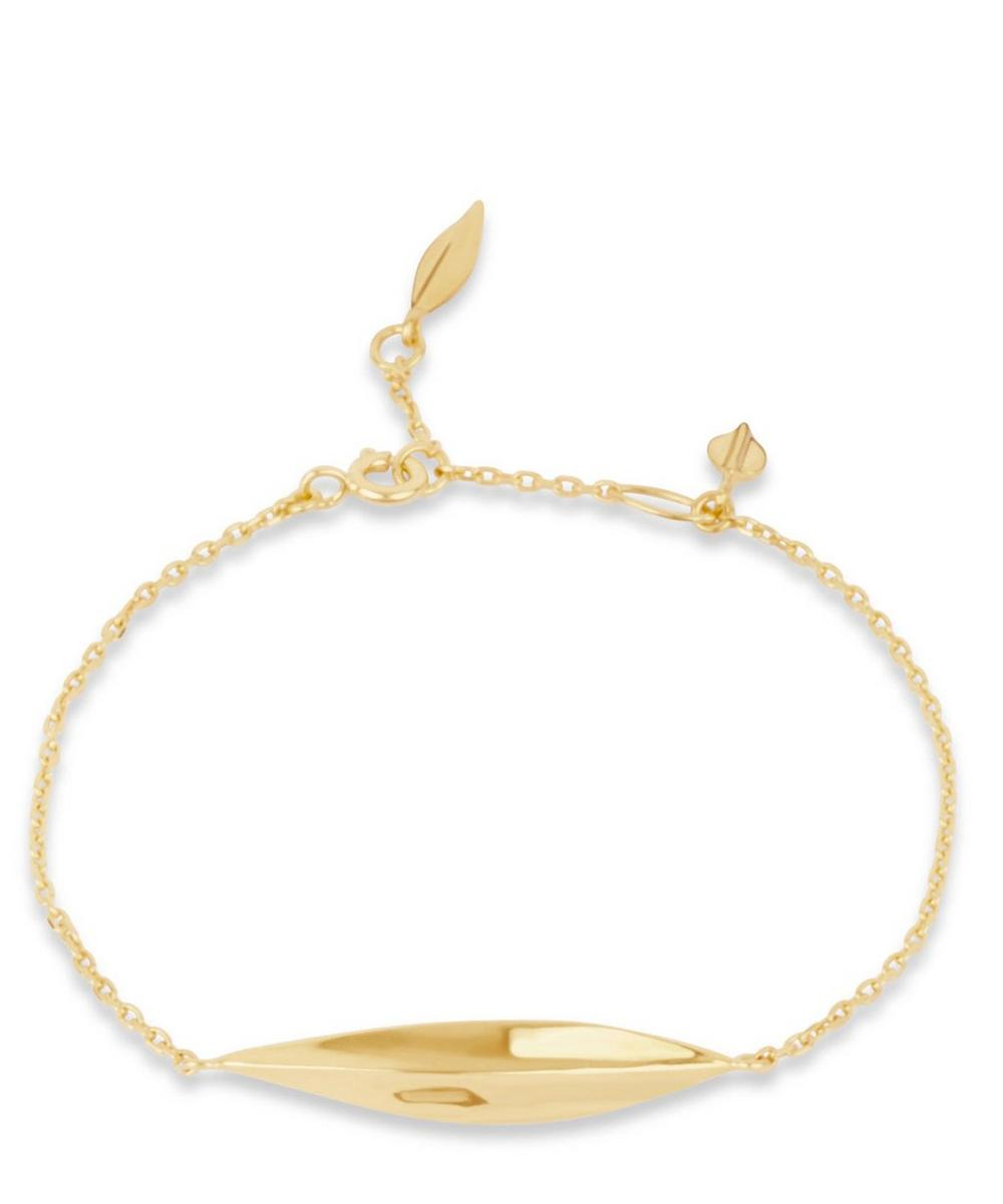 Gold-Plated Lotus Bracelet