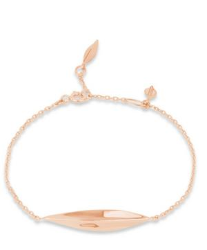 Rose Gold Vermeil Lotus Bar Bracelet