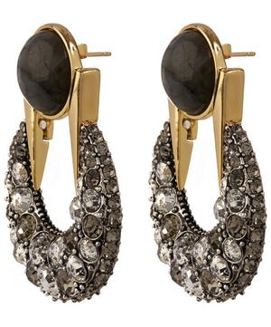 Gold-Plated Laumiere Moon Statement Earring