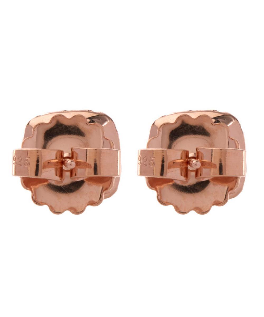 Rose Gold Small Jane White Topaz Post Earrings