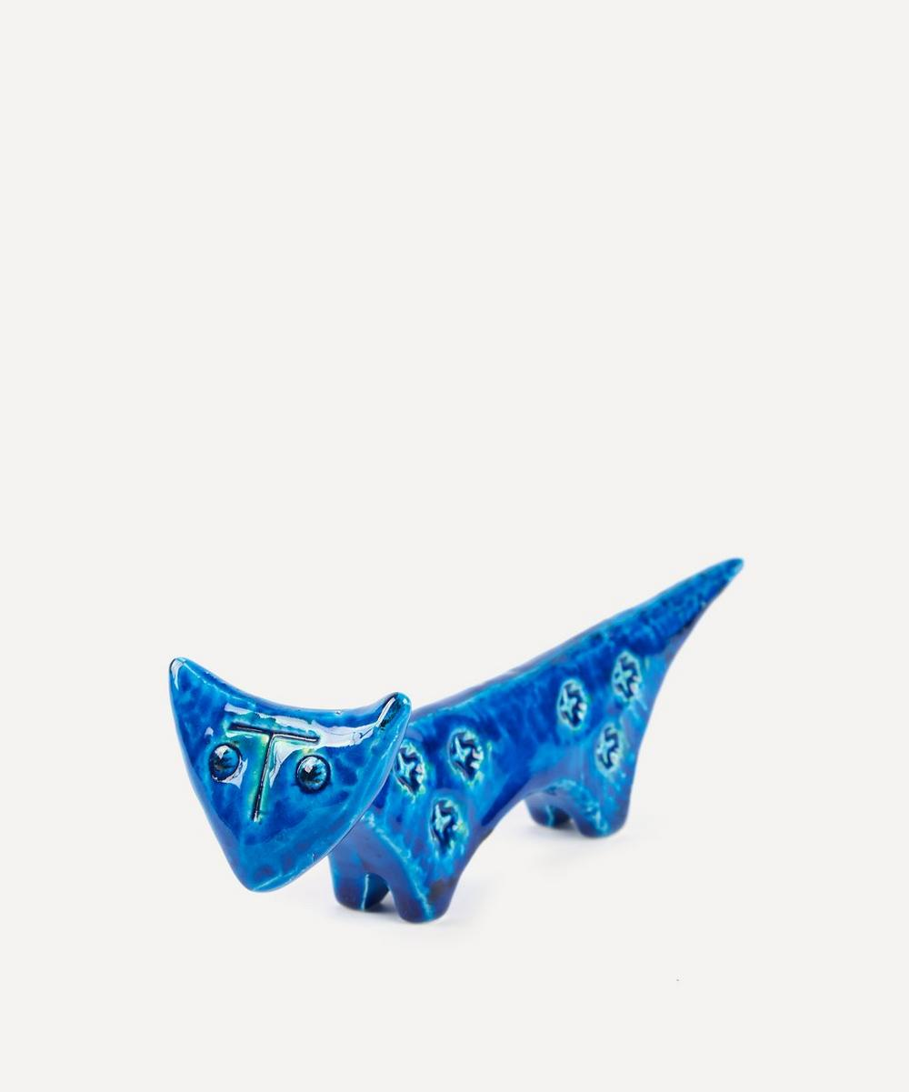 Rimini Blu Ceramic Cat Figure