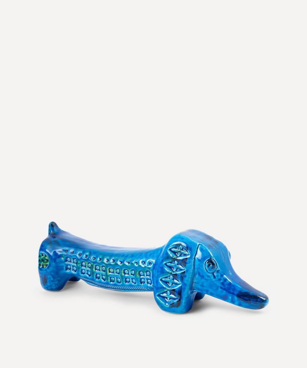 Rimini Blu Ceramic Dachshund Figure