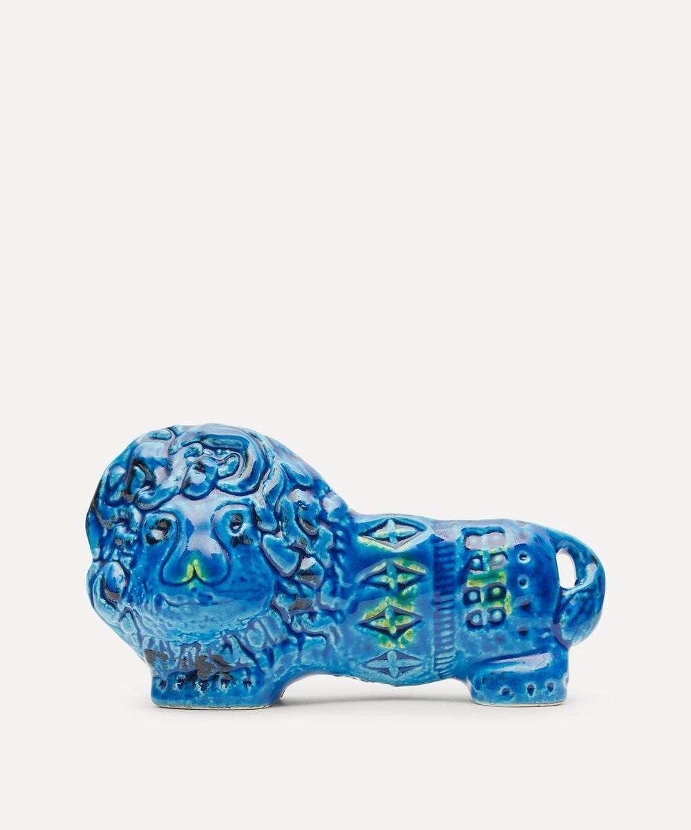 Bitossi - Rimini Blu Ceramic Lion Figure