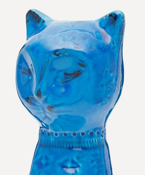 Rimini Blu Ceramic Tall Cat Figure