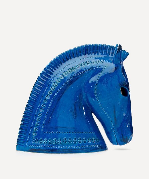 Bitossi - Rimini Blu Ceramic Horse Head
