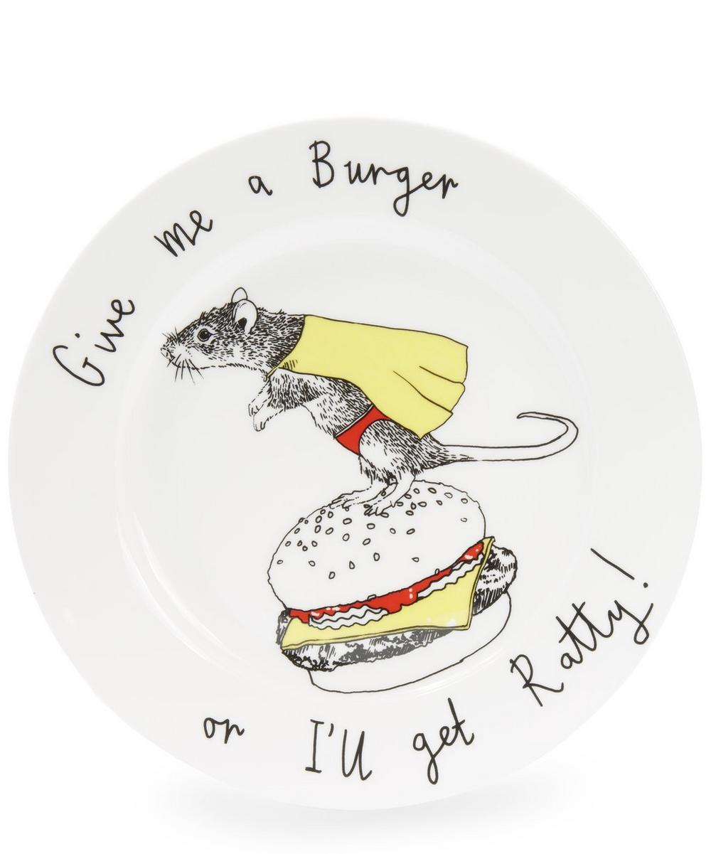 Give Me A Burger Or I'll Get Ratty Side Plate