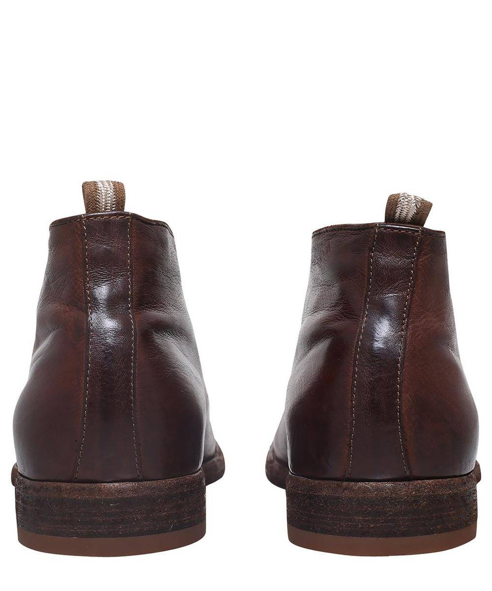 Leather Three-Eye Desert Boots