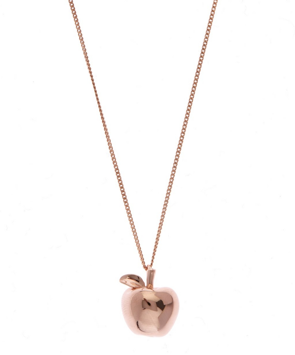 Small rose gold plated apple necklace liberty london small rose gold plated apple necklace aloadofball Image collections