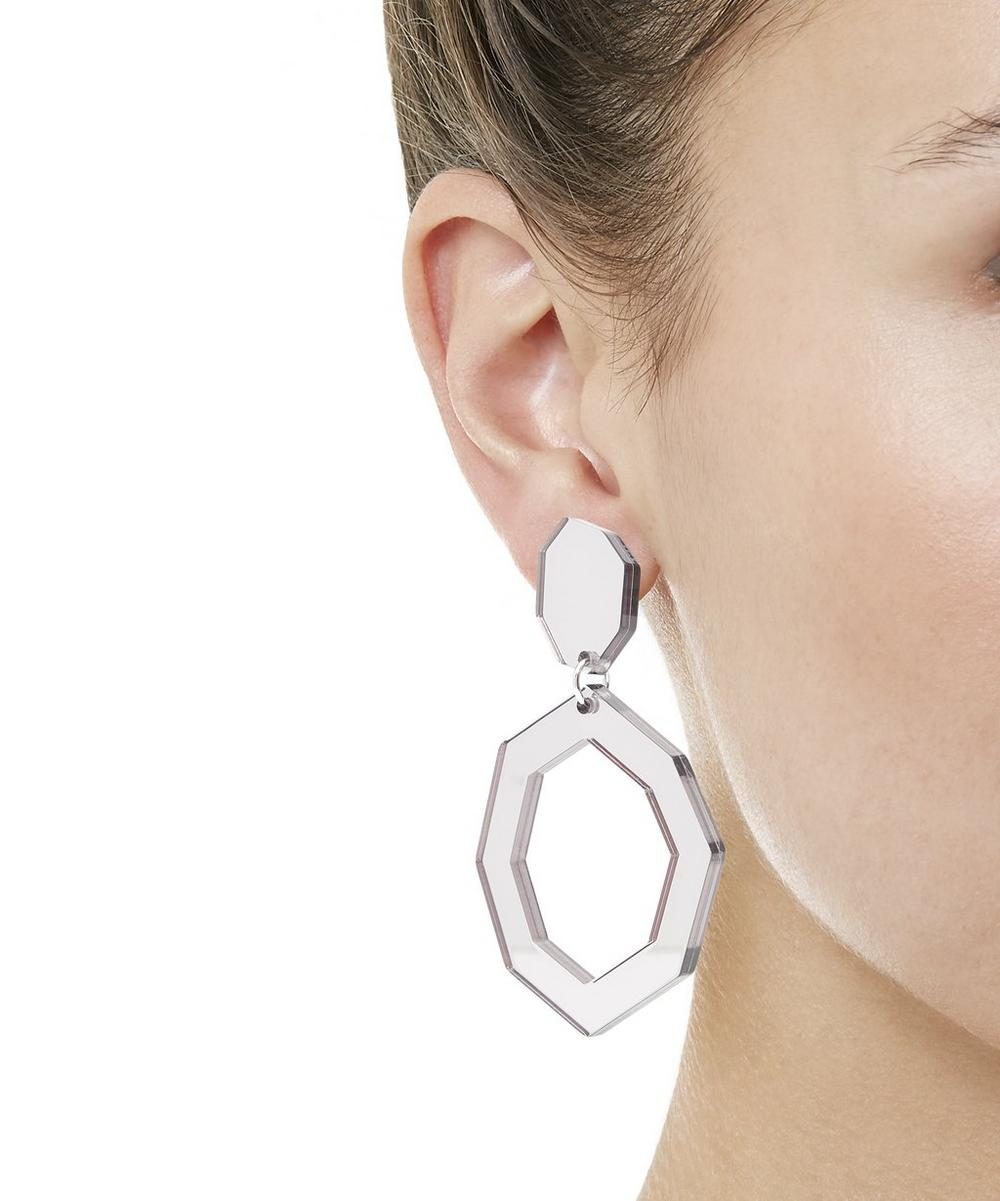 Eurydice Mirror and Resin Earrings