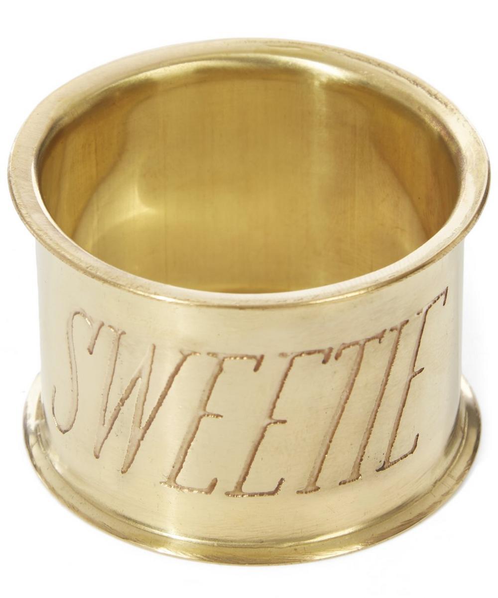 Sweetie Brass Napkin Ring
