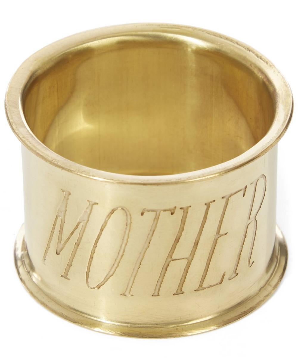 Mother Brass Napkin Ring