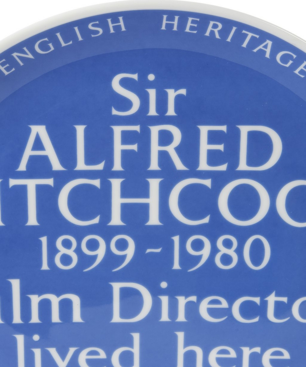 ba9d79dda214 Blue Plaque Alfred Hitchcock Plate | Liberty London