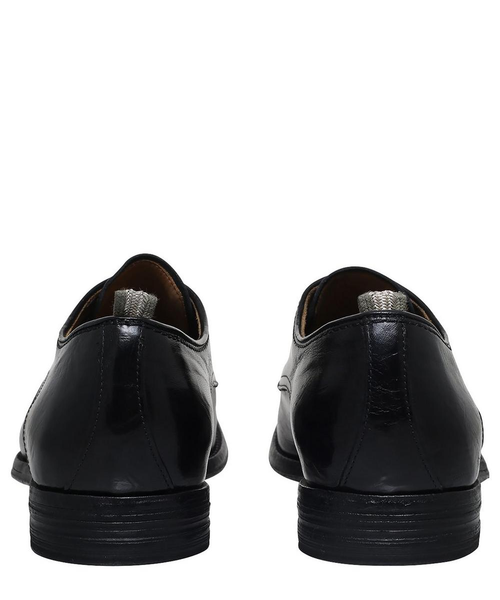 Leather Derby Lace-Up Shoes