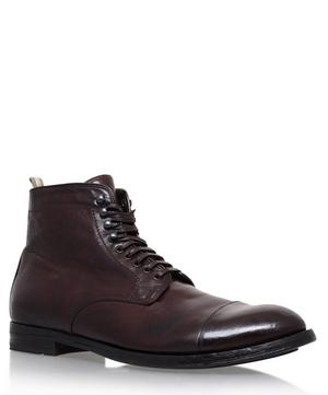 Leather Toe Cap Lace-Up Boots