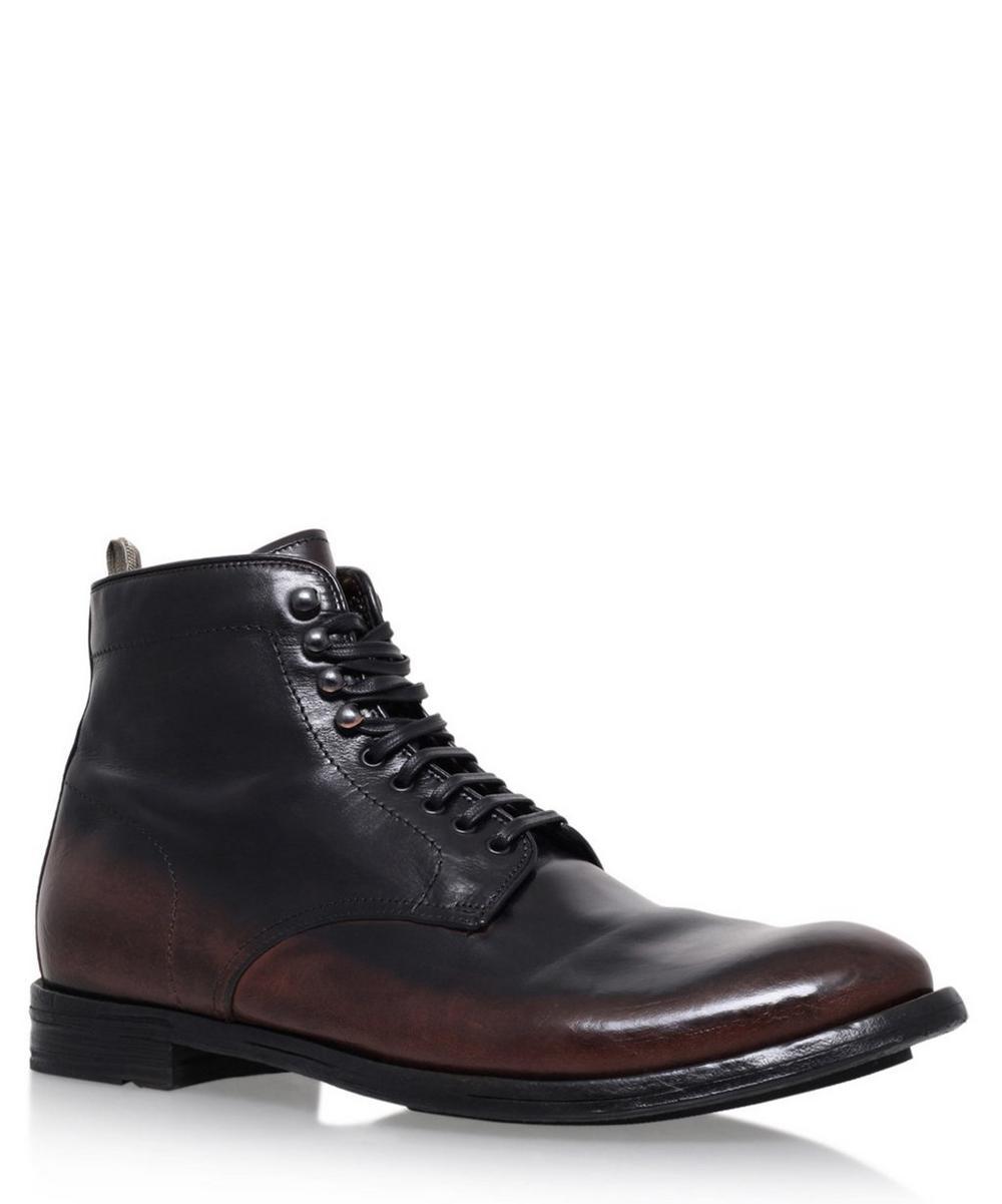 Officine Creative - Ombre Leather Plain Toe Boots
