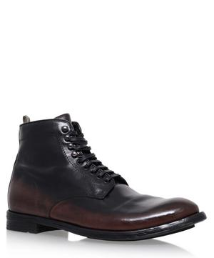 Ombre Leather Plain Toe Boots