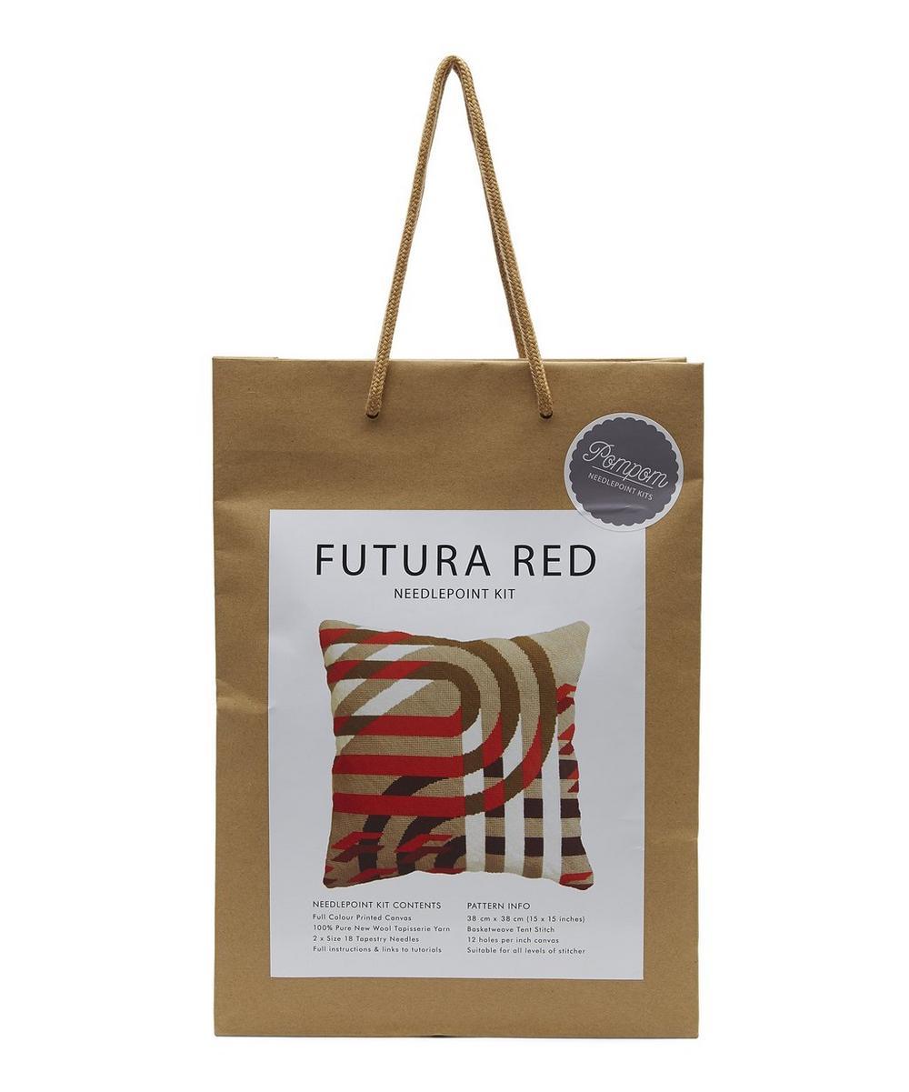 Futura Red Needlepoint Cushion Kit
