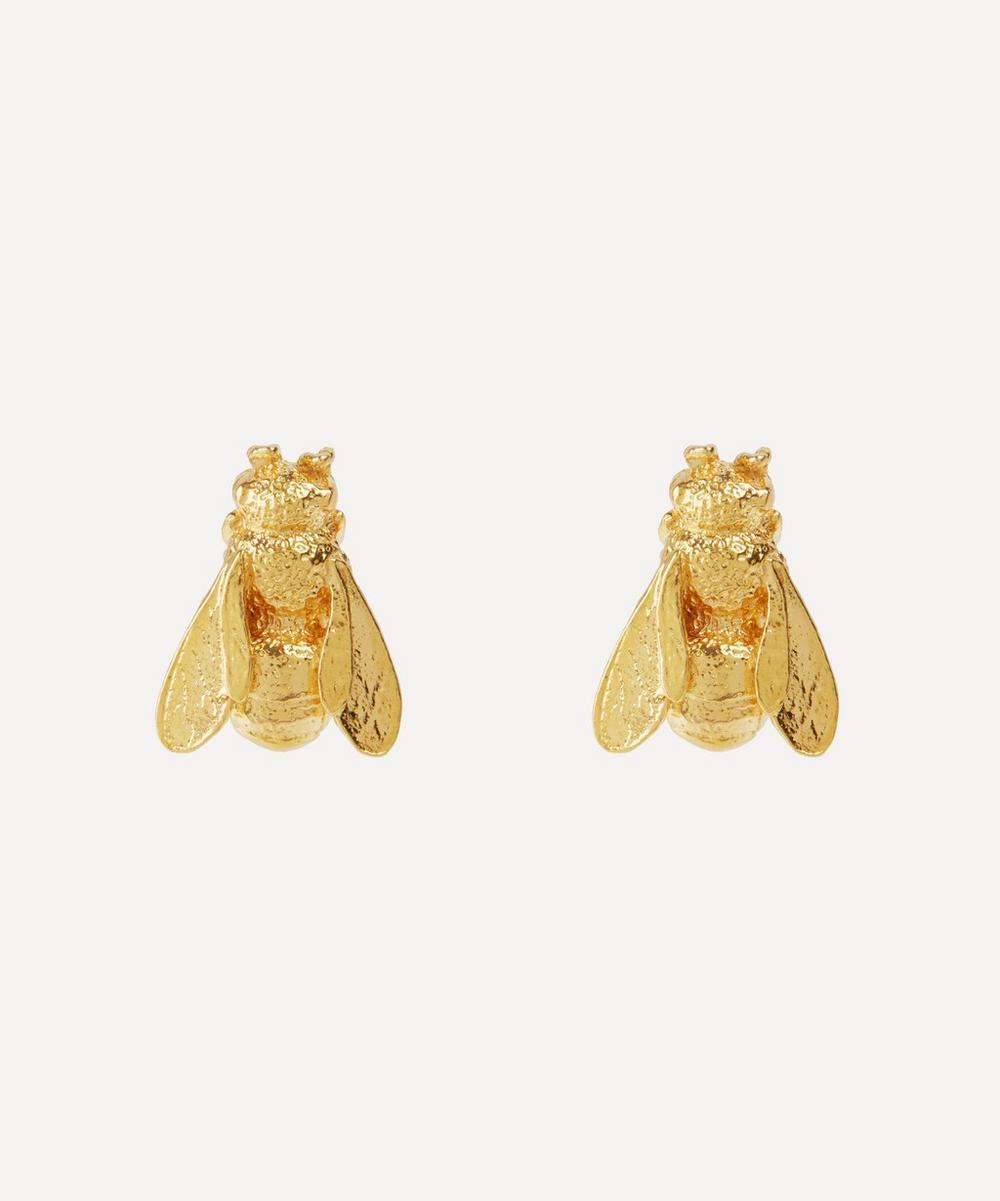 Gold-Plated Honey Bee Stud Earrings