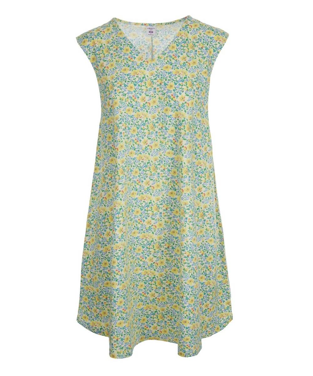 83c63321bc7 Liberty Print Flared Sleeveless Dress