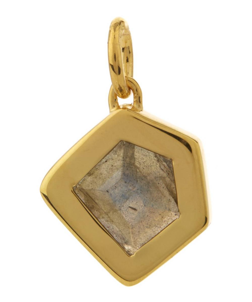 Gold-Plated Petra Labradorite Pendant Necklace