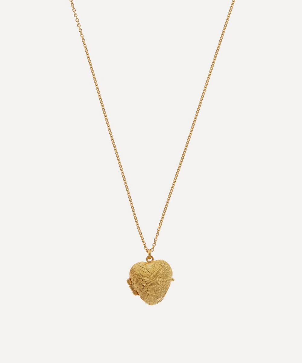 Alex Monroe - Gold-Plated Victoriana Keepsake Heart Locket Necklace