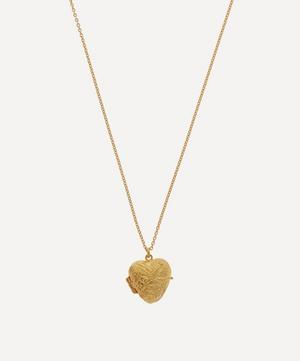 Gold-Plated Victorian Style Swallow Engraved Locket Necklace