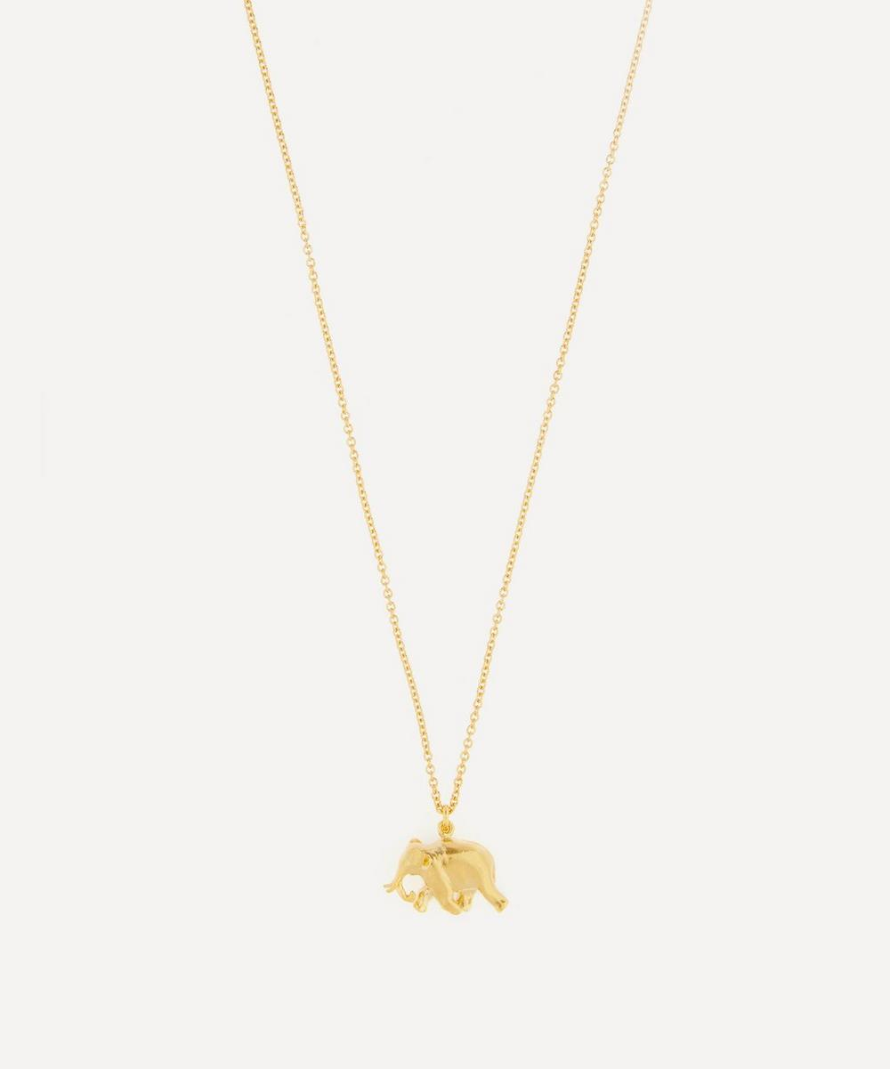 Alex Monroe - Gold-Plated Indian Elephant Pendant Necklace