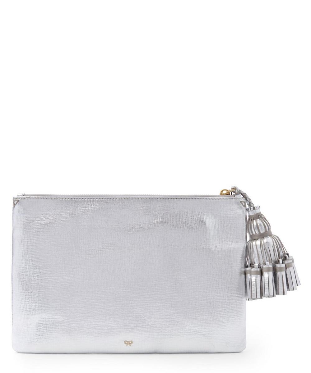 Metallic Leather Stickers Detail Georgiana Clutch Bag