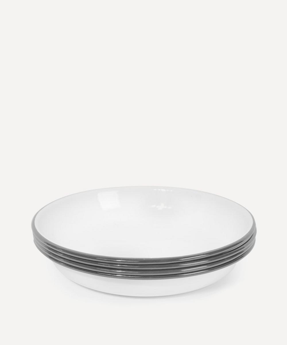 Enamel Plates Set of Four