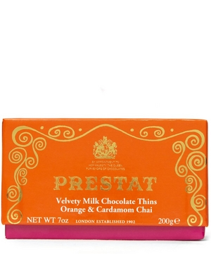 Orange and Cardamom Chai Milk Chocolate Thins 200g