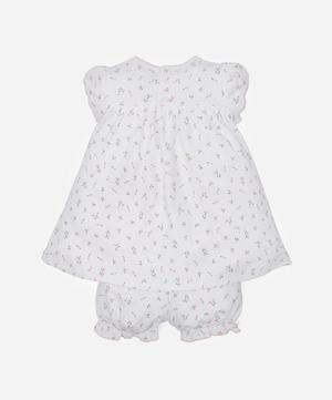 Garden Roses Print Dress and Bloomers 0-9 Months