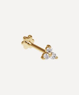Diamond Trinity Threaded Stud Earring