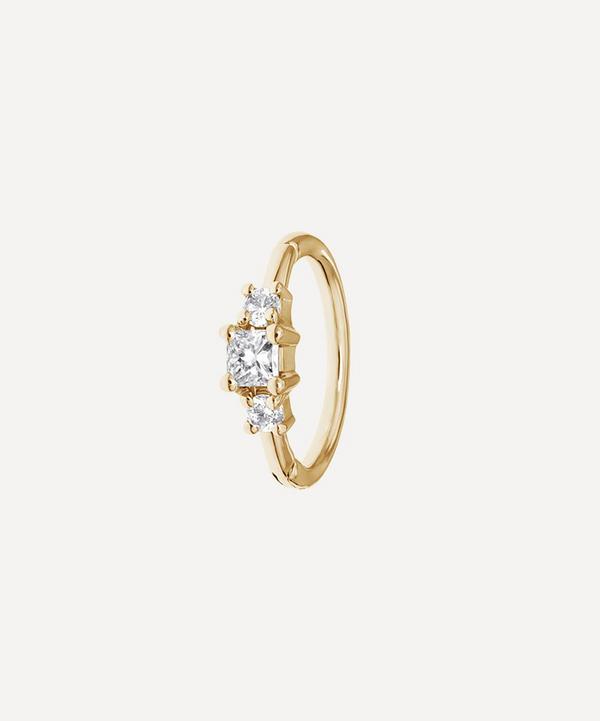 Maria Tash - 8mm 2mm Diamond Princess Hoop Earring