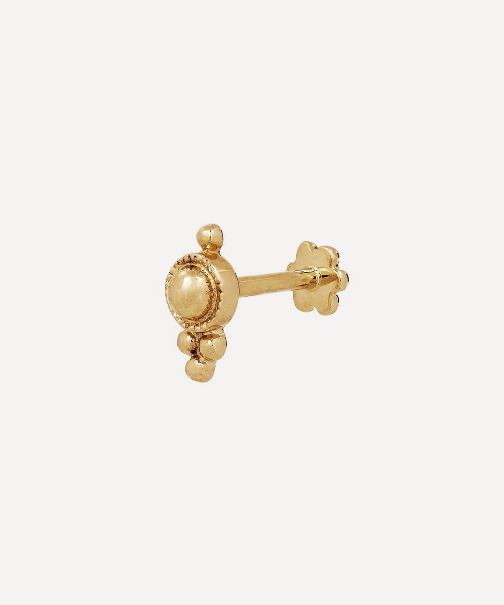 Four-Ball Trinity Threaded Stud Earring
