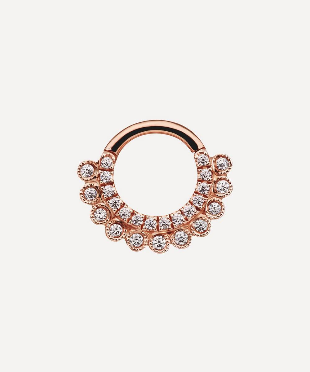 "5/16"" Cubic Zirconia Aspara Clicker Daith Ring"