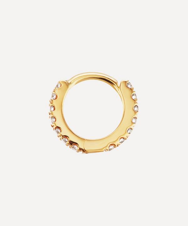 Maria Tash - 18ct 5mm Diamond Eternity Single Hoop Earring
