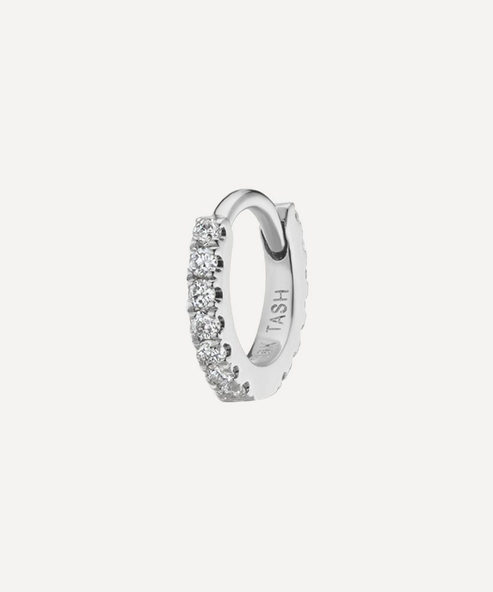 Maria Tash 3/16' DIAMOND ETERNITY HOOP EARRING