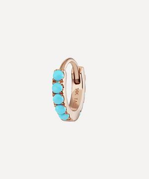 "1/4"" Turquoise Eternity Hoop Earring"