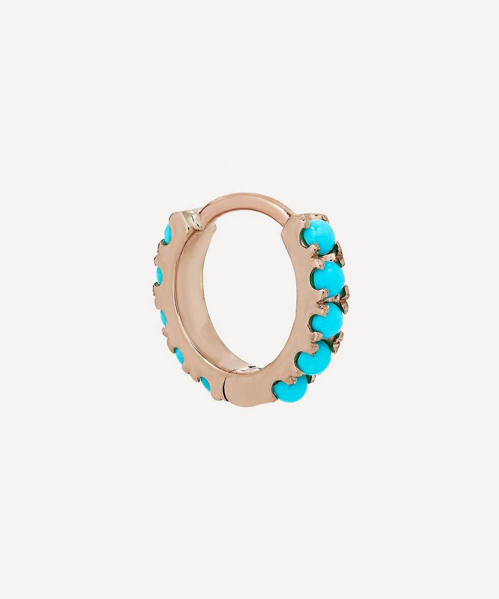 """1/4"""" Natural Turquoise Eternity Earring"""
