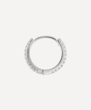 "5/16"" Diamond Eternity Hoop Earring"