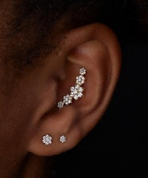 3mm Diamond Flower Threaded Stud Earring