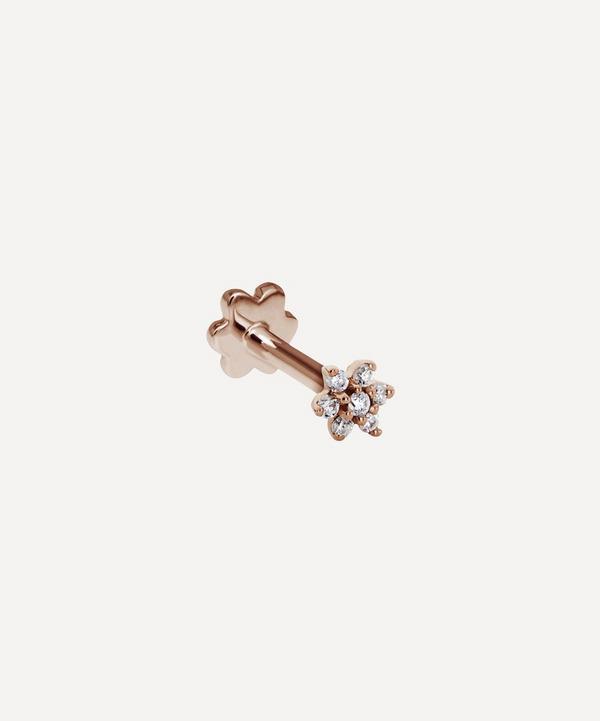 Maria Tash - 18ct 3mm Diamond Flower Single Threaded Stud Earring