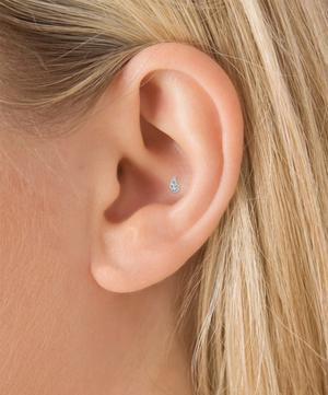 Diamond Paisley Threaded Stud Earring Right