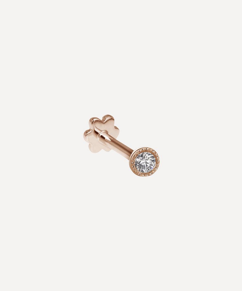 Maria Tash - 18ct 2mm Scalloped Set Diamond Single Threaded Stud Earring