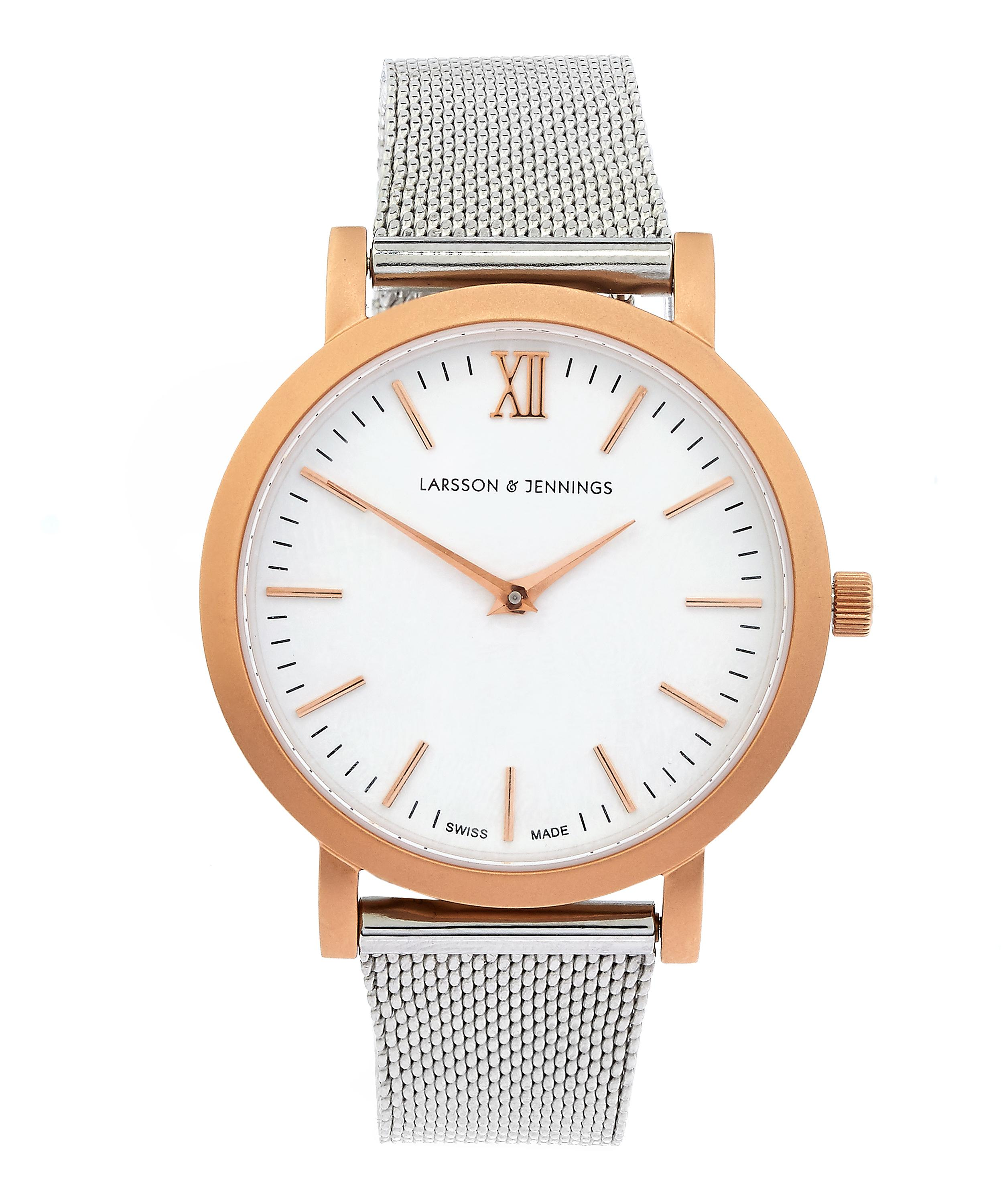 916ae2201d90 Lugano 33mm Rose Gold-Silver Milanese Exclusive Watch